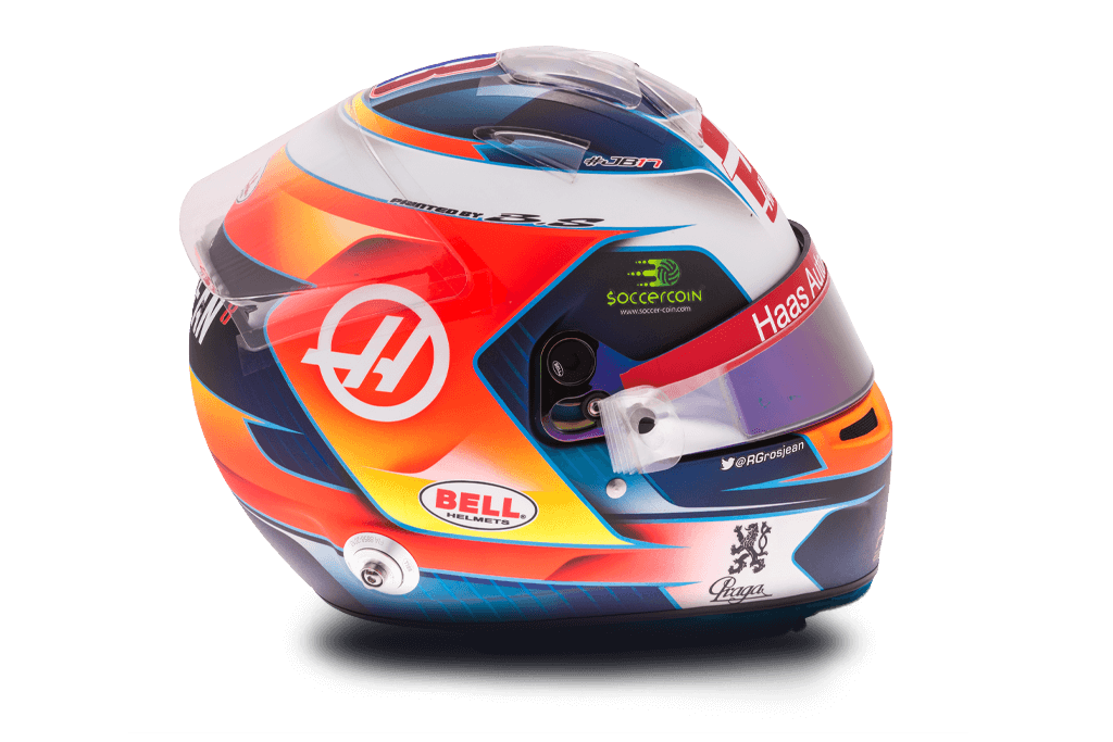 Casque de Romain Grosjean