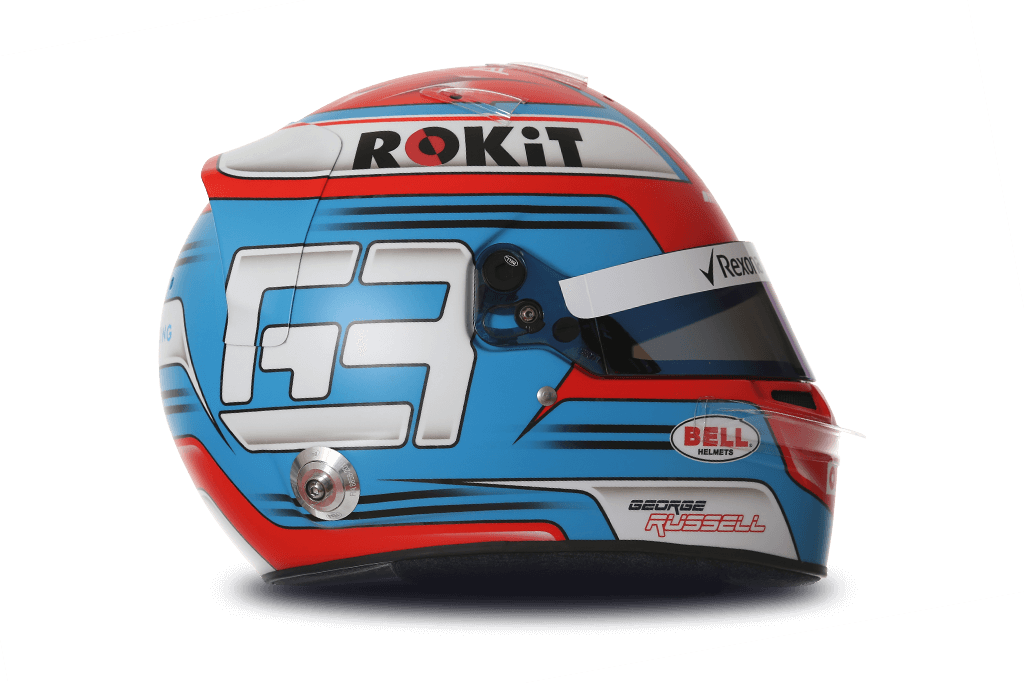 Casque de George Russell